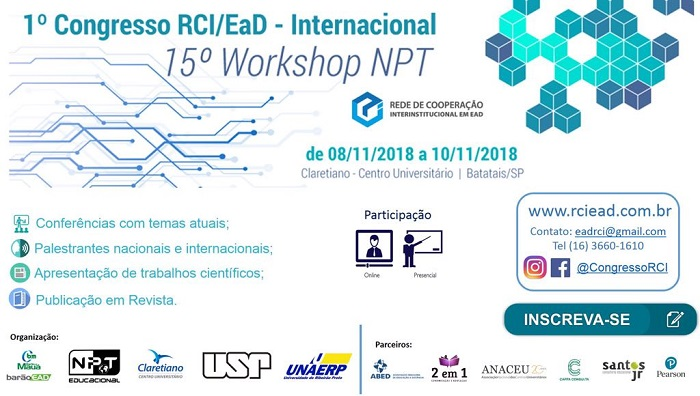 1º Congresso RCI / EAD - Internacional - 15º Workshop NPT