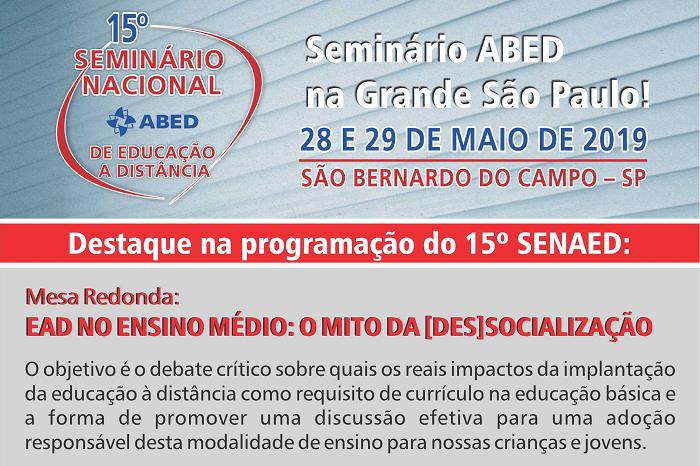 15º Seminário Nacional ABED de Educação a Distância