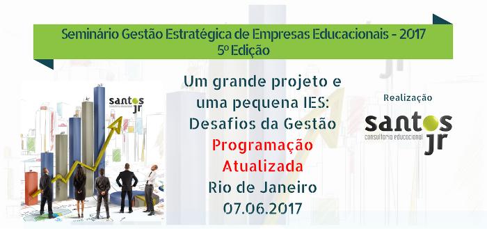 Seminário Gestão Estratégica de Empresas Educacionais - 2017 - 5º Edição